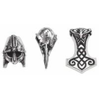 Norsebraid Beads/Beard Rings Set of 3 Jewelry Gem Shop  Sterling Silver Jewerly | Gemstone Jewelry | Unique Jewelry