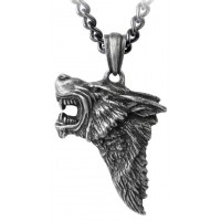 Dark Wolf Pendant with Chain Jewelry Gem Shop  Sterling Silver Jewerly | Gemstone Jewelry | Unique Jewelry