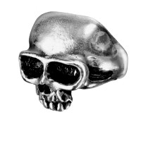 Death Skull Pewter Mens Dreadpunk Ring Jewelry Gem Shop  Sterling Silver Jewerly | Gemstone Jewelry | Unique Jewelry