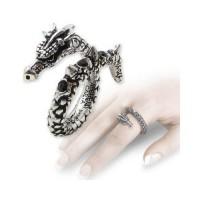 Vis Viva Pewter Dragon Ring Jewelry Gem Shop  Sterling Silver Jewerly | Gemstone Jewelry | Unique Jewelry