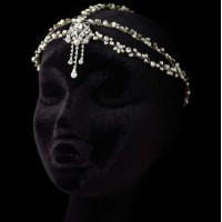 Pearl and Rhinestone Forehead Accent Head Piece