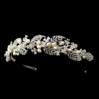 Freshwater Ivory Pearl and Rhinestone Vine Head Band Jewelry Gem Shop  Sterling Silver Jewerly | Gemstone Jewelry | Unique Jewelry