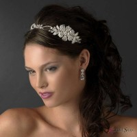 Charming Side Floral Rhinestone Bridal Headpiece Jewelry Gem Shop  Sterling Silver Jewerly | Gemstone Jewelry | Unique Jewelry