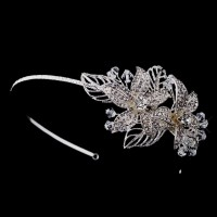 Flower Accented Silver Headband Jewelry Gem Shop  Sterling Silver Jewerly | Gemstone Jewelry | Unique Jewelry