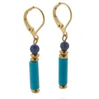 Egyptian Turquoise and Lapis Drop Earrings Jewelry Gem Shop  Sterling Silver Jewerly | Gemstone Jewelry | Unique Jewelry