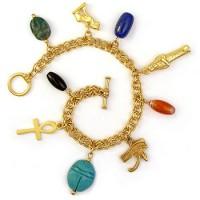 Egyptian Amulet Charm Bracelet Jewelry Gem Shop  Sterling Silver Jewerly | Gemstone Jewelry | Unique Jewelry