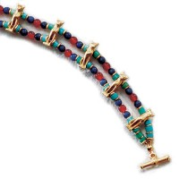 Bastet Cat Bracelet with Beads