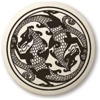 Dragon Round Porcelain Necklace Jewelry Gem Shop  Sterling Silver Jewerly | Gemstone Jewelry | Unique Jewelry