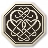 Celtic Heart Octagon Porcelain Necklace