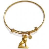 Bast Cat Amulet Slider Bangle Bracelet Jewelry Gem Shop  Sterling Silver Jewerly | Gemstone Jewelry | Unique Jewelry