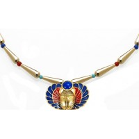 Winged Scarab Lapis and Gold Egyptian Necklace Jewelry Gem Shop  Sterling Silver Jewerly | Gemstone Jewelry | Unique Jewelry
