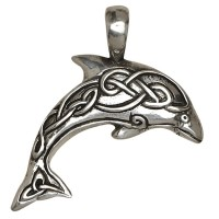 Dolphin Celtic Knot Pewter Necklace Jewelry Gem Shop  Sterling Silver Jewerly | Gemstone Jewelry | Unique Jewelry