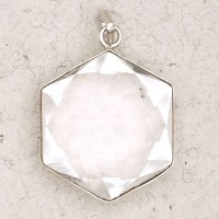 Clear Quartz 6 Point Prisma Star Pendant Jewelry Gem Shop  Sterling Silver Jewerly | Gemstone Jewelry | Unique Jewelry