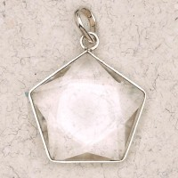 Clear Quartz 5 Point Prisma Star Pendant Jewelry Gem Shop  Sterling Silver Jewerly | Gemstone Jewelry | Unique Jewelry