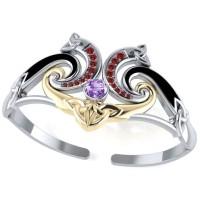 Celtic Knotwork Silver, Gold and Gemstone Cuff Bracelet Jewelry Gem Shop  Sterling Silver Jewerly | Gemstone Jewelry | Unique Jewelry