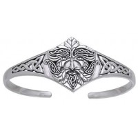 Green Man Sterling Silver Cuff Bracelet Jewelry Gem Shop  Sterling Silver Jewerly | Gemstone Jewelry | Unique Jewelry