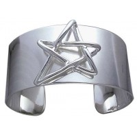 Modern Pentagram Cuff Bracelet in Sterling Silver Jewelry Gem Shop  Sterling Silver Jewerly | Gemstone Jewelry | Unique Jewelry