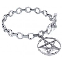 Pentacle Sterling Silver Toggle Bracelet Jewelry Gem Shop  Sterling Silver Jewerly | Gemstone Jewelry | Unique Jewelry