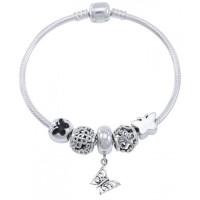 Butterfly Sterling Silver Bead Bracelet Jewelry Gem Shop  Sterling Silver Jewerly | Gemstone Jewelry | Unique Jewelry