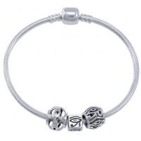 Eye of Horus Sterling Silver Bead Bracelet Jewelry Gem Shop  Sterling Silver Jewerly | Gemstone Jewelry | Unique Jewelry