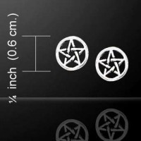 Pentagram Pentacle Tiny Stud Earrings in Sterling Silver Jewelry Gem Shop  Sterling Silver Jewerly | Gemstone Jewelry | Unique Jewelry