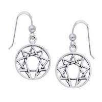 Enneagram Sterling Silver Earrings Jewelry Gem Shop  Sterling Silver Jewerly | Gemstone Jewelry | Unique Jewelry