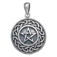 Knotwork Bordered Pentacle Pendant in Sterling Silver Jewelry Gem Shop  Sterling Silver Jewerly | Gemstone Jewelry | Unique Jewelry