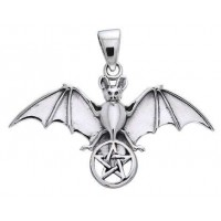 Bat Pentacle Sterling Silver Pendant Jewelry Gem Shop  Sterling Silver Jewerly | Gemstone Jewelry | Unique Jewelry