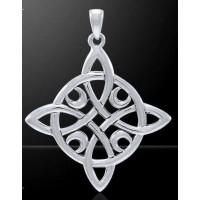 Quaternary Celtic Cross Silver Pendant by Mickie Mueller