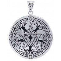 Elemental Seasons Witches Pentacle Pendant Jewelry Gem Shop  Sterling Silver Jewerly | Gemstone Jewelry | Unique Jewelry