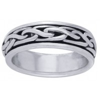 Celtic Knot Narrow Sterling Silver Fidget Spinner Ring Jewelry Gem Shop  Sterling Silver Jewerly | Gemstone Jewelry | Unique Jewelry