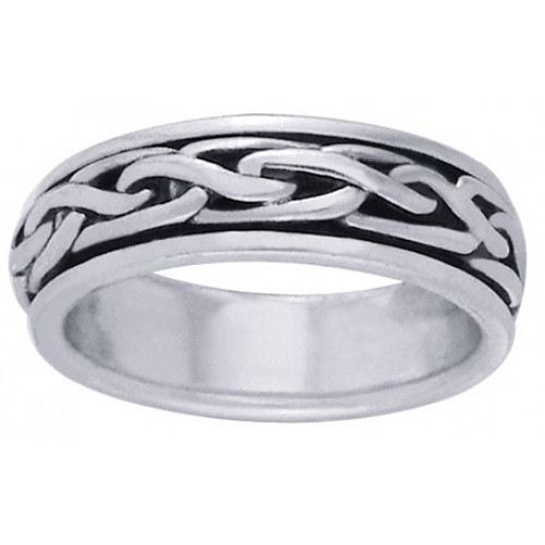 Celtic Knot Narrow Sterling Silver Fidget Spinner Ring at Jewelry Gem Shop,  Sterling Silver Jewerly   Gemstone Jewelry   Unique Jewelry