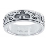 Celtic Animal Sterling Silver Fidget Spinner Ring at Jewelry Gem Shop,  Sterling Silver Jewerly   Gemstone Jewelry   Unique Jewelry