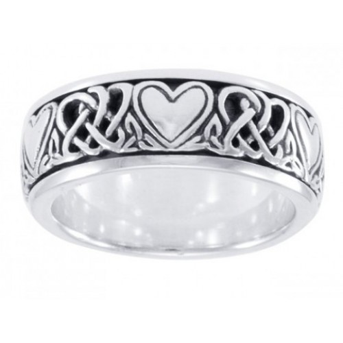 Celtic Hearts Sterling Silver Fidget Spinner Ring at Jewelry Gem Shop,  Sterling Silver Jewerly | Gemstone Jewelry | Unique Jewelry