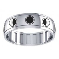 Phases of the Moon Sterling Silver Fidget Spinner Ring Jewelry Gem Shop  Sterling Silver Jewerly | Gemstone Jewelry | Unique Jewelry
