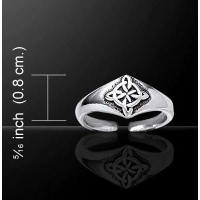 Celtic Four Point Quaternary Knot Silver Toe Ring Jewelry Gem Shop  Sterling Silver Jewerly | Gemstone Jewelry | Unique Jewelry