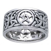 Pentacle Open Knotwork Sterling Silver Ring Jewelry Gem Shop  Sterling Silver Jewerly | Gemstone Jewelry | Unique Jewelry