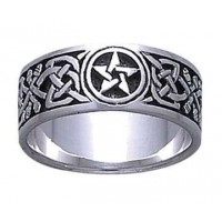 Celtic Knot Pentacle Band Ring Jewelry Gem Shop  Sterling Silver Jewerly | Gemstone Jewelry | Unique Jewelry