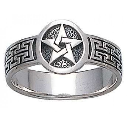 Pentacle Sterling Silver Ring at Jewelry Gem Shop,  Sterling Silver Jewerly | Gemstone Jewelry | Unique Jewelry