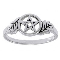 Oak Leaf Pentacle Sterling Silver Ring Jewelry Gem Shop  Sterling Silver Jewerly | Gemstone Jewelry | Unique Jewelry