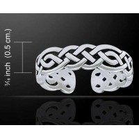 Celtic Knotwork Silver Toe Ring Jewelry Gem Shop  Sterling Silver Jewerly | Gemstone Jewelry | Unique Jewelry
