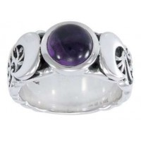Triple Moon Gemstone Ring