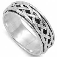 Celtic Knot Sterling Silver Fidget  Spinner Ring Jewelry Gem Shop  Sterling Silver Jewerly | Gemstone Jewelry | Unique Jewelry