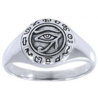 Eye of Horus Egyptian Signet Ring Jewelry Gem Shop  Sterling Silver Jewerly | Gemstone Jewelry | Unique Jewelry
