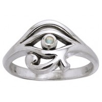 Eye of Horus Egyptian Ring with Gemstone Jewelry Gem Shop  Sterling Silver Jewerly | Gemstone Jewelry | Unique Jewelry