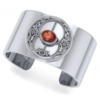Chalice Well Garnet Cuff Bracelet Jewelry Gem Shop  Sterling Silver Jewerly | Gemstone Jewelry | Unique Jewelry
