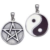 Reversible Pentacle and Yin Yang Pendant
