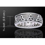 Triquetra Celtic Knot Sterling Silver Spinner Ring