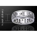 Irish Pride Sterling Silver Spinner Ring