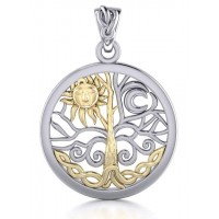 Tree of Life Sun and Moon Pendant